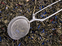 Free Infuser And Green Tea Leaves Royalty Free Stock Photography - 18132377