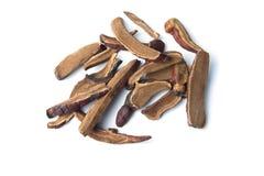 Infusión herbaria de la seta roja del reishi en aislado Fotografía de archivo libre de regalías