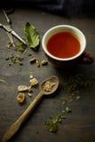Infusión herbaria de la tisana Fotos de archivo