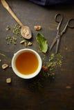 Infusión herbaria de la tisana Imagen de archivo libre de regalías