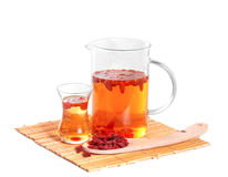 Infusion of goji berries Stock Photo