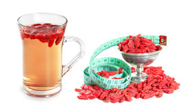 Infusion of goji berries Stock Image