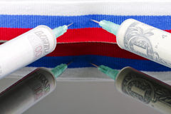 The infusion of international investment in the Russian economy Royalty Free Stock Photo