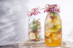 Infusion of tea peach and lemon Royalty Free Stock Images