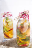 Infusion of tea peach and lemon Stock Images