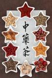 Infusiones de hierbas chinas Fotografía de archivo libre de regalías