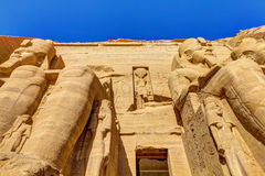 Ingång Abu Simbel Royaltyfri Fotografi