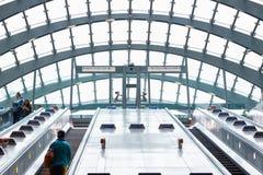Ingång av Canary Wharf den underjordiska stationen Royaltyfria Foton