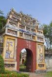 Ingång av citadellen, ton, Vietnam Arkivbild