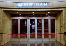 Ingång av den dolby teatern i hollywood arkivbild