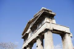 Ingång av den forntida marknadsplatsen, Aten Royaltyfri Bild