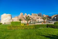 Ingång av den gamla staden av Nessebar Arkivbild