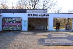 Ingång av det afrikanska Afrika museet, Groesbeek, Nijmegen, Nederländerna Arkivbild