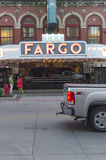 Ingång av Fargo Theatre In Downtown Fargo, ND Royaltyfria Foton