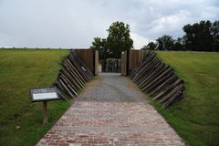 Ingång av fortet Curtis Stronghold, Helena Arkansas Arkivbilder