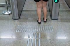 Ingång av järnvägsstationen för krympling arkivfoton