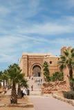 Ingång av Kasba Oudania, Rabat royaltyfria foton