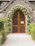 Ingång av kyrkan för St Enodoc Royaltyfria Bilder