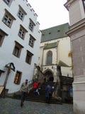 Ingång av kyrkan för St Vitus Fotografering för Bildbyråer