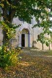 Ingång av Maria Kreuz Church i Landsberg am Lech, Tyskland royaltyfri foto