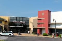 Ingång av Opryen Mills Mall, Nashville, Tennessee Arkivbild