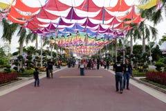 Ingång av Putrajaya den blom- festivalen Arkivfoto