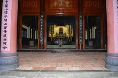 Ingång av tempelet Arkivfoton
