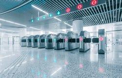Ingång av tunnelbanajärnvägsstationen för krympling arkivfoton