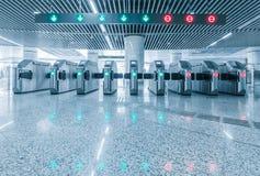 Ingång av tunnelbanajärnvägsstationen för krympling royaltyfria foton