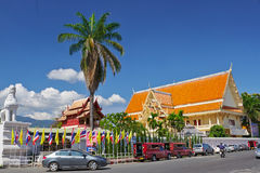 Ingång av Wat Phra Singh i Chiang Mai Fotografering för Bildbyråer