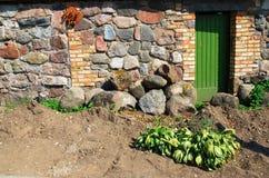 Ingång för landshus Arkivfoto