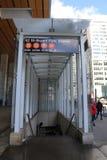 42 ingång för St Bryant Park Subway Station i NYC Arkivbilder