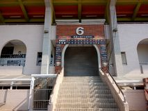 Ingång för stadion för Chiayi stadsbaseball inte -6 arkivbilder