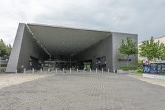 Ingång för stadionMRT-station royaltyfria bilder