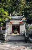 Ingång för tempel för berömd gränsmärkeama kinesisk i Macao macau Fotografering för Bildbyråer