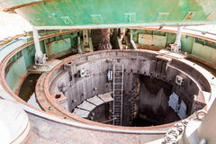 Ingång för underjordisk silo Royaltyfri Fotografi
