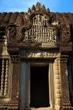 Ingång Gopura av Angkor Wat Arkivbild