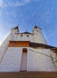 Ingång i den Thun slotten i schweizare Arkivfoton