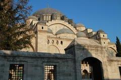 Ingång in i moské för SÃ-¼leymaniye i Istanbul, Turkiet Arkivfoton