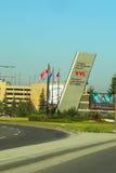 Ingång på Calgary den internationella flygplatsen Arkivfoton
