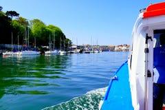 Ingång som ska härbärgeras, Weymouth, Dorset, UK Royaltyfri Foto