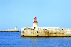 Ingång storslagen hamn, Malta. Arkivfoton