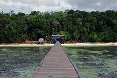 Ingång till ön Arkivbild