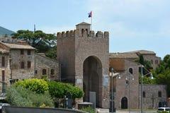 Ingång till Assisi, Umbria, Italien Arkivbild