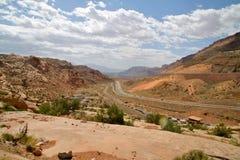 Ingång till bågar nationalpark, Utah Arkivfoto