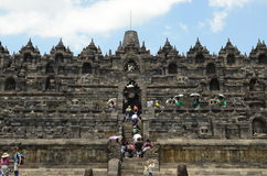 Ingång till Borobudur Arkivfoto