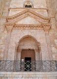 Ingång till Castel del Monte, Apulia, Italien Arkivbild