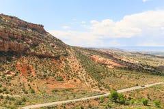 Ingång till Colorado den nationella monumentet royaltyfri fotografi