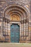 Ingång till Cyril och den Methodius katolska kyrkan Royaltyfri Fotografi
