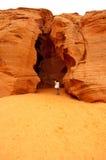 Ingång till den övrekanjonen för antilop (springa) i sidan, Arizona Arkivbilder